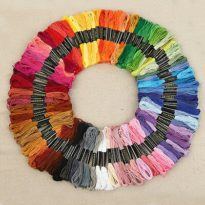 50Pcs Knitting Sewing Crocheting Embroidery Thread Cotton Polyester Cross Stitch