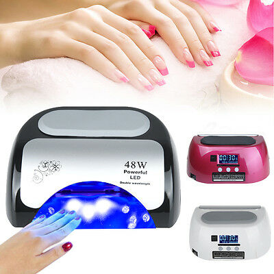 48W automatique induction ongles Gel Polish outils professionnels Nail LED Lampe