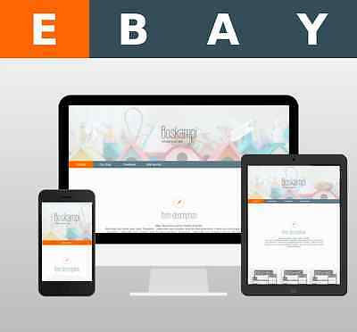 ebay Template Listing Mobile Friendly Responsive design HTML adaptive