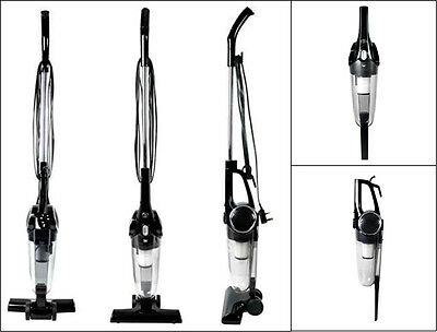 New 2-In-1 Upright And Handheld Vacuum Cleaner Black Hepa Filter 600W 1.2 Litre