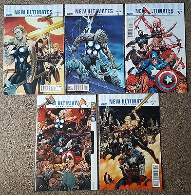 Ultimate New Ultimates #1 2 3 4 5 Complete Set - Marvel Comics