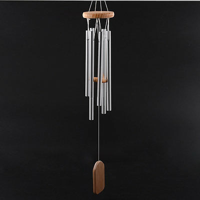 Amazing Resonant Relaxing 6 Tubes Chapel Melody Bells Wind Chimes Home Decor