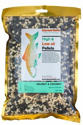 Mixed halibut & coconut carp and coarse feed pellets for carp and coarse 5mm