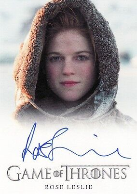 Game of Thrones Season 2 Rose Leslie / Ygritte Auto Card