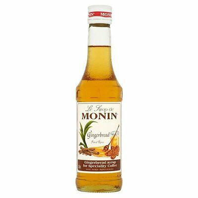 MONIN Coffee Syrup GINGERBREAD 25cl - Great size for trying out this flavour!