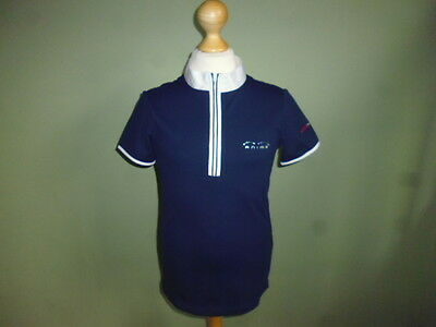 Animo Girls Pony Division Competition Show Shirt navy blue age 12 years