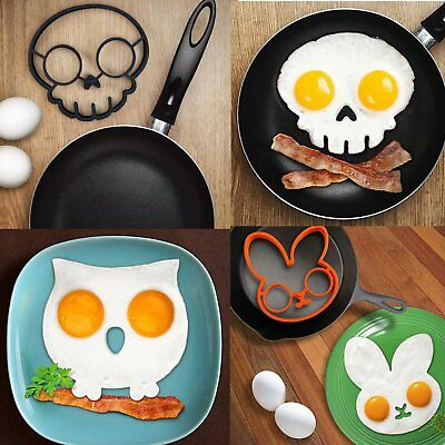 Breakfast Fried Egg Mold Silicone Pancake Egg Ring Shaper Funny Cooking Tool YL