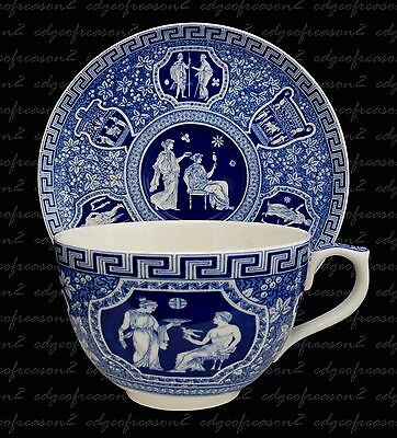 Spose Blue Room Large Jumbo Cup And Saucer Gothic Greek