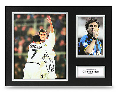 Christian Vieri Signed 16x12 Photo Autograph Inter Milan Memorabilia Display COA
