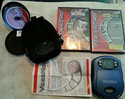 Hasbro Video Now personal video player Bundle Lot w 9 discs and travel case