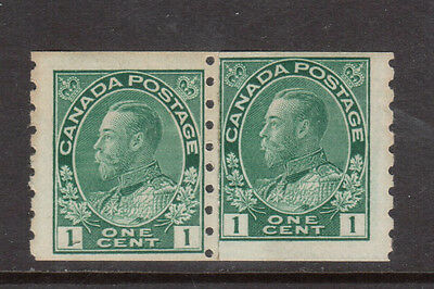 Canada #125iii VF/NH Rare Paste Up Pair With Unusual Alignment