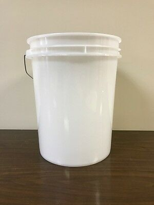 5-Gallon White Plastic Pail (3-Pack)