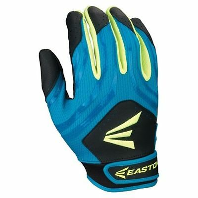 Easton HF3 Woman's MEDIUM Fastpitch Gloves Black/Teal/Optic Yellow, new