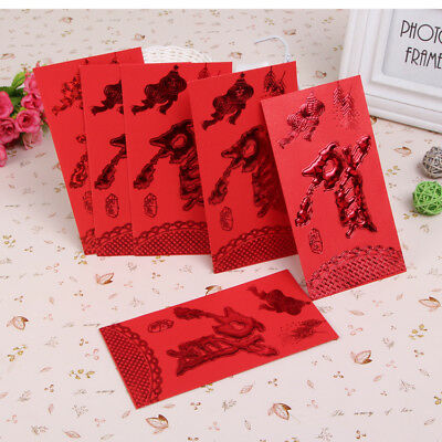 """Chinese New Year Red Packet Pocket Envelope """"贺"""", Large Size 36 pcs,Red. 贺岁利是封"""