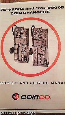 S75-9800A and S75-9800B Coinco Coin Changer Operation and Service Manual - NEW