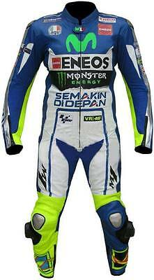 Rossi Yamaha Movistar Motorbike Racing Leather Suit Ce Approved Protection