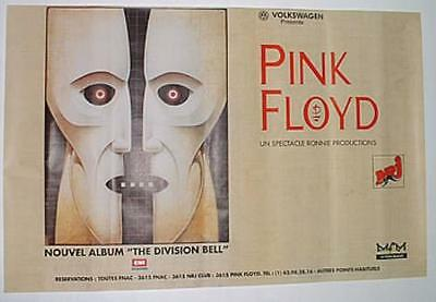 """46x70"""" HUGE! SUBWAY POSTER~Pink Floyd The Division Bell 1994 French Original~"""