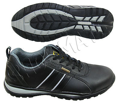 Womens Ladies Black Leather Work Safety Steel Toe Cap Boots Shoes Trainers Size