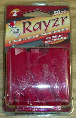 """Gateway Feathers 2"""" Rayzr L/W 50 Pack Red Left Wing"""