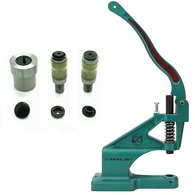 Rivet Press Green Machine or KAM Snaps Size 16 20  Press Stud Die Tool Set