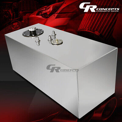 19 Gallon Top-Feed Polished Aluminum Gas Fuel Cell Tank+Cap+Level Sender+Foam