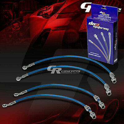Performance Stainless Steel Braided Brake Line/cable For 00-06 Sentra B15 Blue