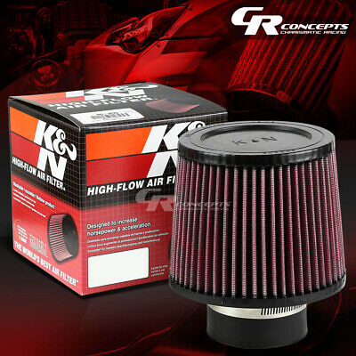 """K&n Kn Round Tapered 3""""rubber Flange Air Intake Filter+Clamp 5""""height Ru-3570"""