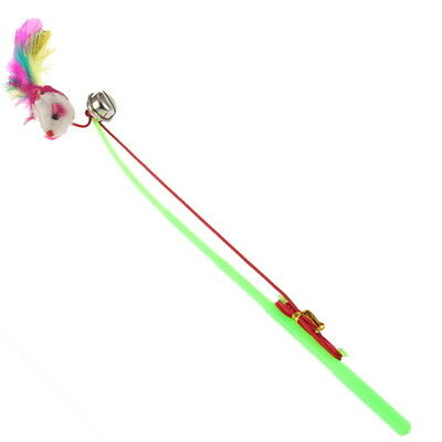 Bell The Dangle Faux Mouse Rod Roped Funny Fun Play Playing Toy For Pet Cat XA