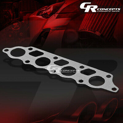 Header Exhaust Flange Preforated Aluminum Gasket For 00-04 Focus Zetec Zx3/zx5