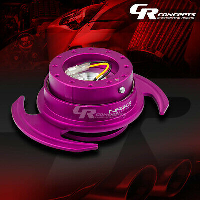 Nrg Universal Steering Wheel Lock Quick Release Adaptor Gen 3.0 Purple+Ring