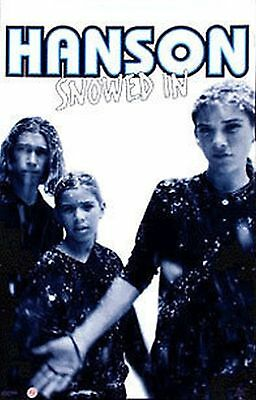 """Hanson The Group 1998 Pop Music Poster Snowed In 23X35"""" Isaac,Taylor,Zac New Org"""