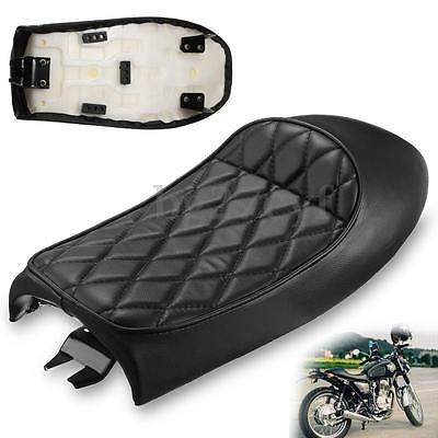 Universal Vintage Black Hump Cafe Racer Seat Saddle Motorcycle Custom For Honda