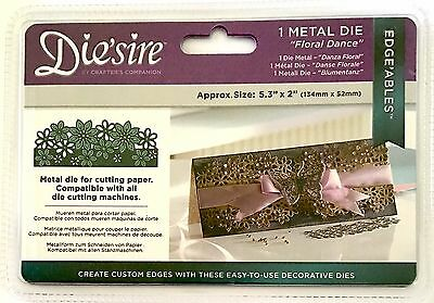 Crafters Companion Die'Sire Metal Dies ~Edge'Ables Floral Dance