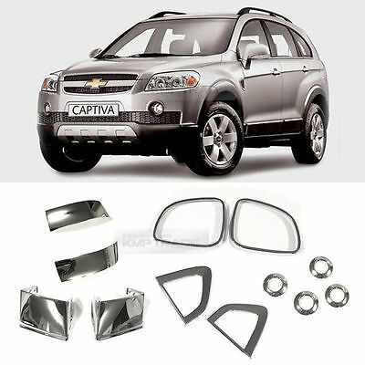 Chrome Side Mirror Fender PDC Hole Molding Cover 12Pcs For CHEVY 2006-11 Captiva