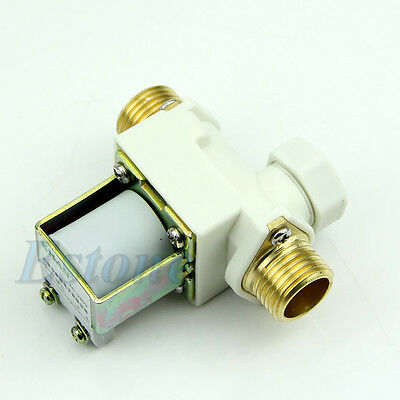 """1Pc 1/2""""  Electric Solenoid Valve For AC 220V Water Air N/C Normally Closed"""