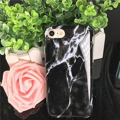 New Black Marble Pattern Soft Silicone TPU 4.7inch iPhone 7 Phone Case Cover