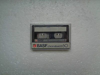 Vintage Audio Cassette BASF Chromdiox 60 * Rare From 1984 * Transparent Wrapping
