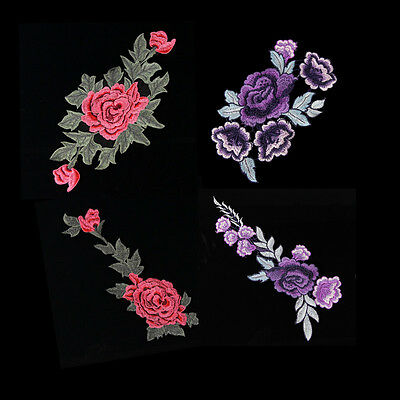 1PC Craft Women Flower Floral Patch Applique Motif Garment Embroidered Sewing On