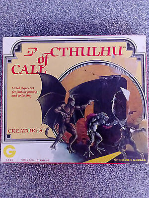 Cthulhu Metal Figures/Miniatures Set by Grenadier Models 1983 Rare Chaosium