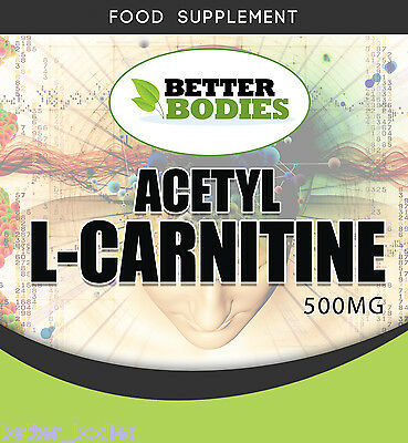 Acetyl L-Carnitin 500mg Packungen mit 60 120 180 360