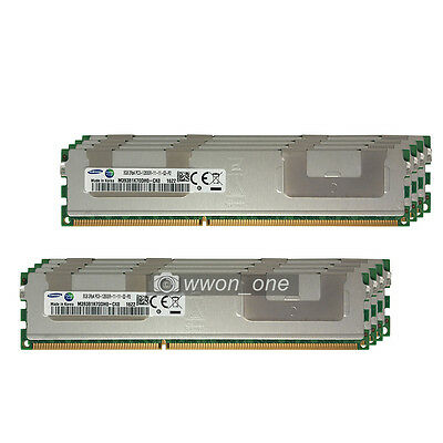 Server RAM Samsung 64GB 8x8GB 2Rx4 PC3-12800R DDR3-1600Mhz 240Pin ECC REG Memory