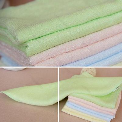 4PCS Bamboo Fiber #L Small Towels Kids Face Towel Wash Cloths Grooming Hand SPA