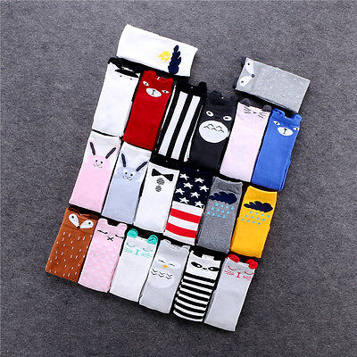 Toddler Cotton Knee High Socks Kids Cartoon Ear Stockings Warm Long Socks