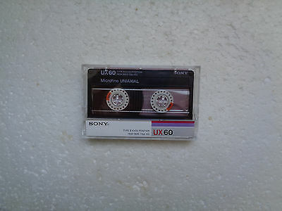 Vintage Audio Cassette SONY UX 60 * Rare From France 1986 * Unsealed