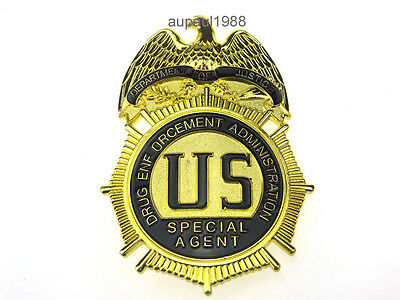 Replica Us Collectibles Dea Drug Enf Administration Special Agent Badge Pin