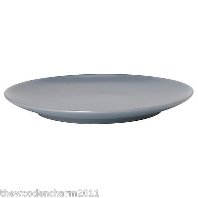 NIB La Redoute AM.PM. Set of 4 Stoneware Dinner Plates Charcoal Grey 8 Available