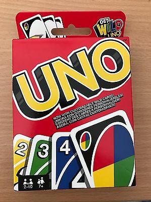 Mattel Original Uno Card Game - ages 7+ - brand new Free Next Day Postage
