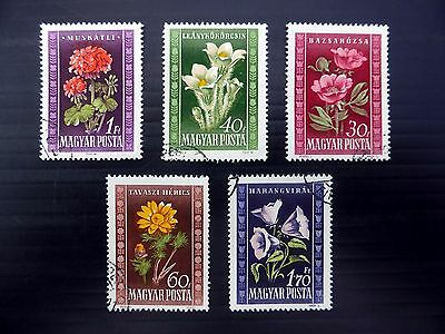 HUNGARY 1950 Flowers (5) SG1124/8 Fine/Used Cat £12 NEW PRICE FP8694