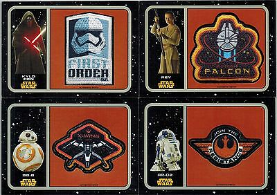 *STAR WARS Journey the Force Awakens: Complete Set 20 Patch Cards, P-1 to  P-20