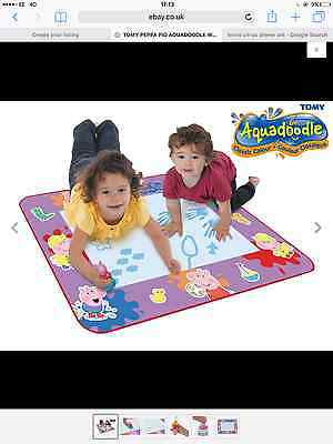 Tomy Peppa Pig Aquadoodle Water Drawing Large Mat Includes Pen & Stamp - 18M+